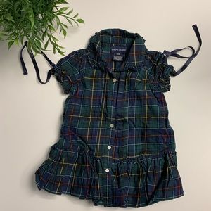Ralph Lauren infant girls plaid dress with bloomer